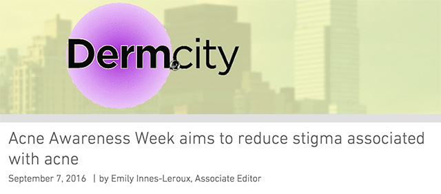 Derm.city Acne Awareness Week Aims To Reduce Stigma Associated With Acne