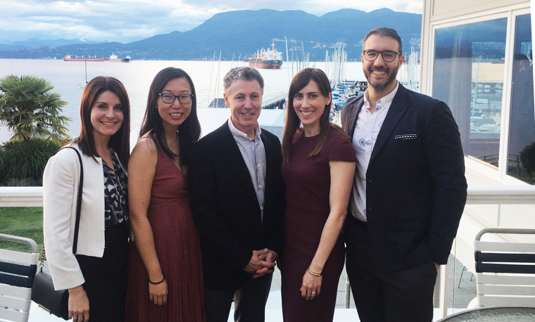 Pacific Derm team at Annual Department of Dermatology and Skin Science Faculty Dinner
