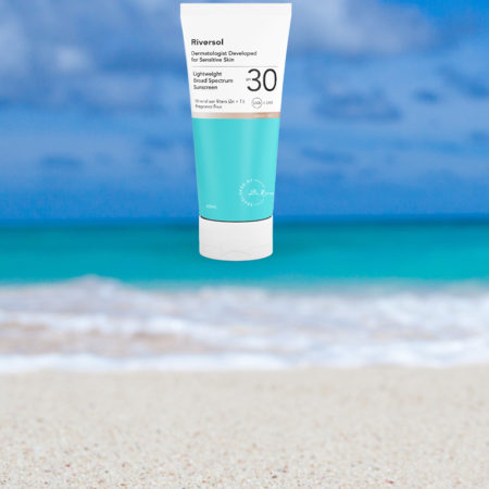 beach and Riversol sunscreen