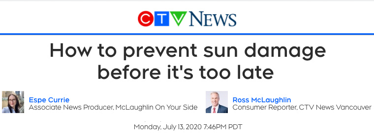 CTV news header - How to prevent sun damage before it's too late